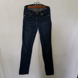 American Eagle Dark Blue Wash Skinny Jeans 2